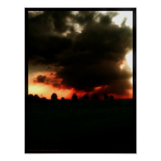 Doom brought by clouds poster