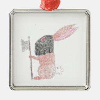 Doom Bunny Metal Ornament