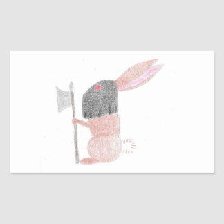 Doom Bunny Rectangular Sticker