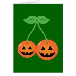 Doom Jack o' Lantern Cherries Card
