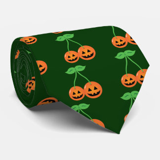 Doom Jack o' Lantern Cherries Neck Tie
