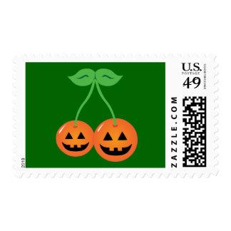 Doom Jack o Lantern Cherries Postage Stamp