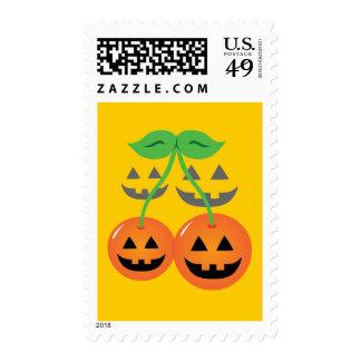 Doom Jack o Lantern Cherries Stamp