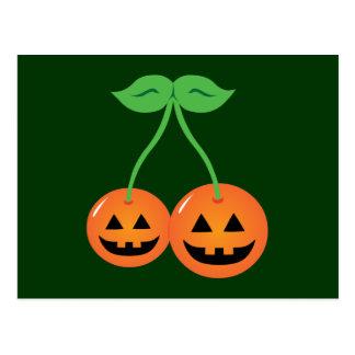Doom Jack o' Lantern Cherries Postcard