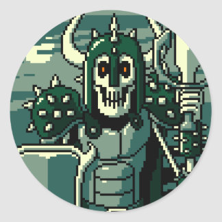 Doom Knight Classic Round Sticker