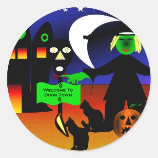 Doom Town Stickers