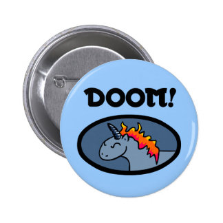 Doom Unicorn 2 Inch Round Button