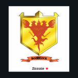 """Doomcock Coat of Arms Vinyl Sticker<br><div class=""""desc"""">This Coat of Arms Vinyl Sticker is perfect for the Doomentite who wants to proclaim their allegiance to Doomcock to the WORLD! This is a cut sticker precisely in the shape of the coat of arms, and can be stuck anywhere you can stick a sticker! So stick it to The...</div>"""