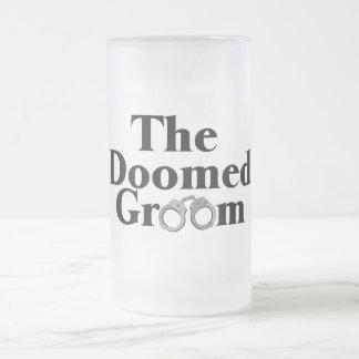 Doomed Groom Frosted Glass Beer Mug