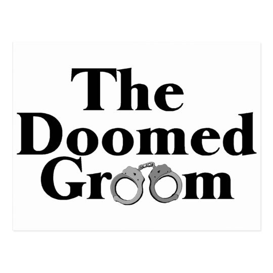 Doomed Groom Postcard