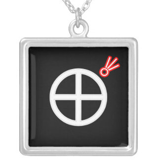 Doomed Square Pendant Necklace