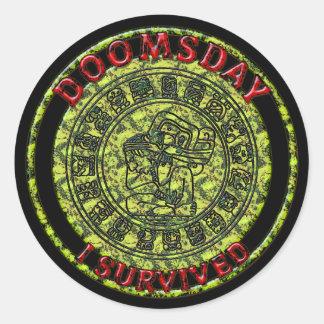 Doomsday - I survived | Maya Prophecy Classic Round Sticker