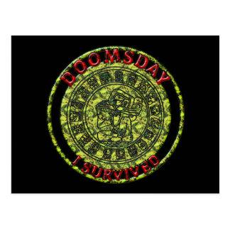 Doomsday - I survived   Maya Prophecy Postcard