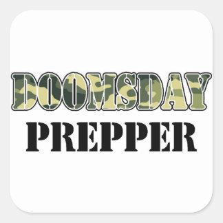 DoomsDay Prepper Square Sticker