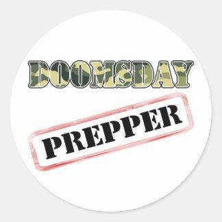 DoomsDay Prepper Stamp Classic Round Sticker