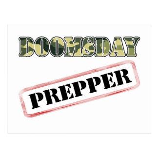 DoomsDay Prepper Stamp Postcard