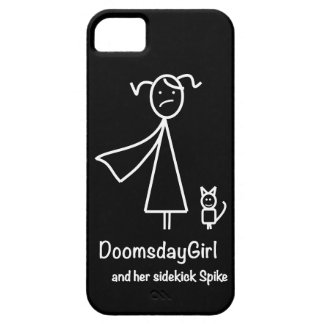DoomsdayGirl and Spike iPhone Case