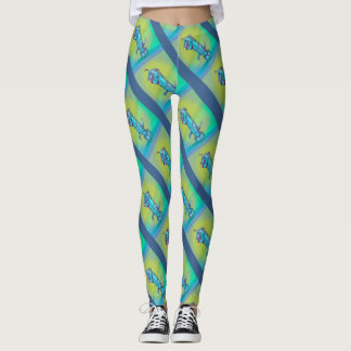 DOOPPEY ALIEN CUTE MONSTER CARTOON  LEGGINS LEGGINGS
