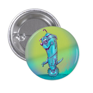 DOOPPEY ROBOT CARTOON Round Button Small