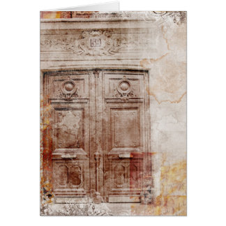 door abstract card