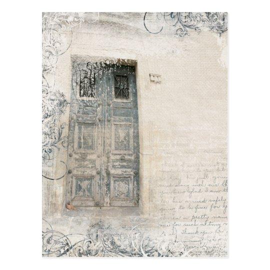 door abstract postcard