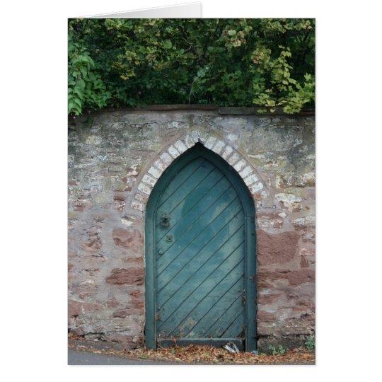 Door at Bishops Lydeard, Somerset, UK Card