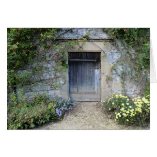 Door at Haddon Hall in Derbyshire Card