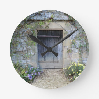 Door at Haddon Hall in Derbyshire Round Clock