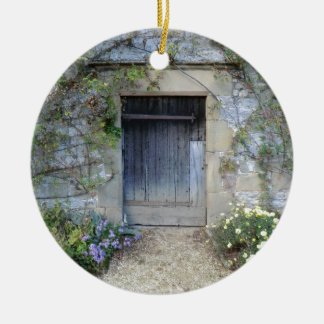 Door at Haddon Hall in Derbyshire Christmas Ornament