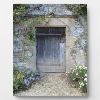 Door at Haddon Hall in Derbyshire Plaque