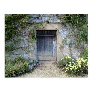 Door at Haddon Hall in Derbyshire Postcard
