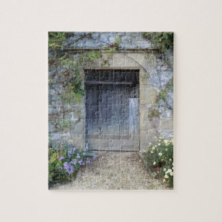 Door at Haddon Hall in Derbyshire Jigsaw Puzzle