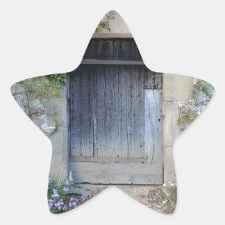 Door at Haddon Hall in Derbyshire Star Sticker