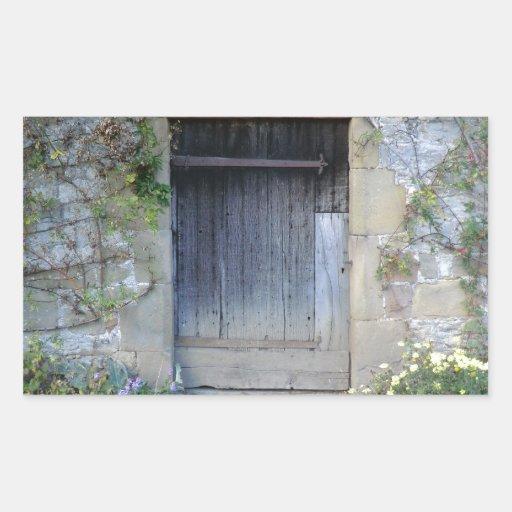 Door at Haddon Hall in Derbyshire Rectangular Sticker