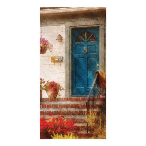 Door - Blue Front Door Photo Card