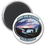 Door Co. , WI Farmhouse 2 Inch Round Magnet