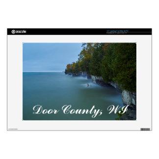 """Door County Cave Point Cliffs 15"""" Laptop Decals"""