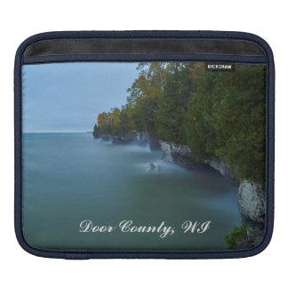 Door County Cave Point Cliffs iPad Sleeve