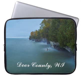 Door County Cave Point Cliffs Laptop Sleeve