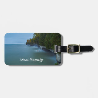 Door County Cave Point Cliffs Luggage Tag