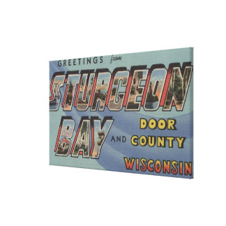 Door County - Large Letter Scenes Canvas Prints