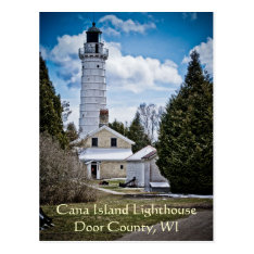 Door County Lighthouse Postcard at Zazzle