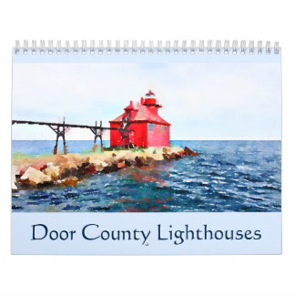 Door County Lighthouses Watercolor Calendar