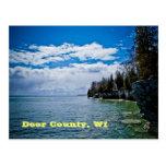 wisconsin, door county, cave point, postcard, door