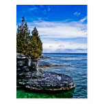 wisconin, postcard, cave point, cave point