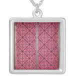 Door from the choir of Rouen Cathedral Square Pendant Necklace