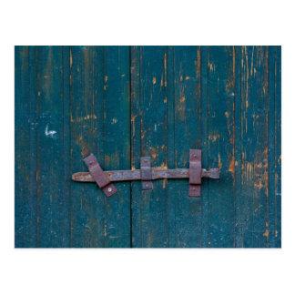 door handle postcard