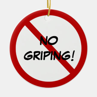 Door Hanger - NO GRIPING! Double-Sided Ceramic Round Christmas Ornament