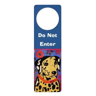 Door Hanger with Spotted Dog