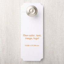 Door Hangers Ticket Large uni White - own Color